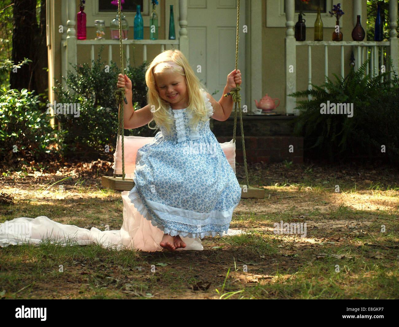 Statesville, Iredell County, North Carolina, Stati Uniti d'America felicemente oscillante Immagini Stock