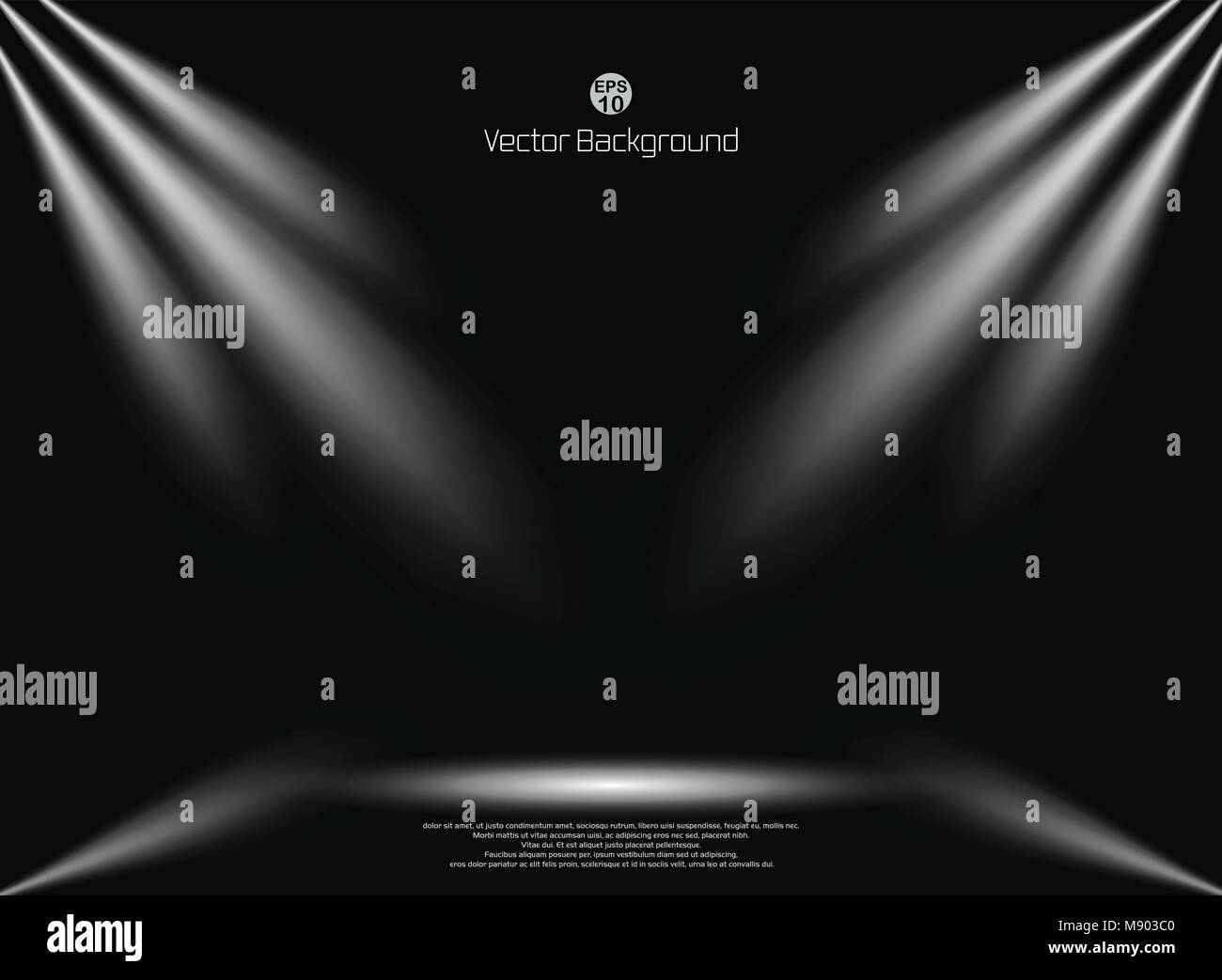 Dark sfondo nero con illuminazione spotlight sfondo business mock