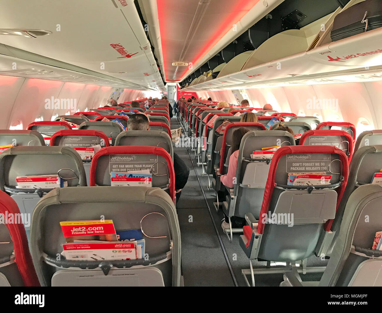 GoTonySmith,of,Jet2,Boeing737,Cabin,Boeing,passenger,charter,seat,luggage,stow,red,grey,with