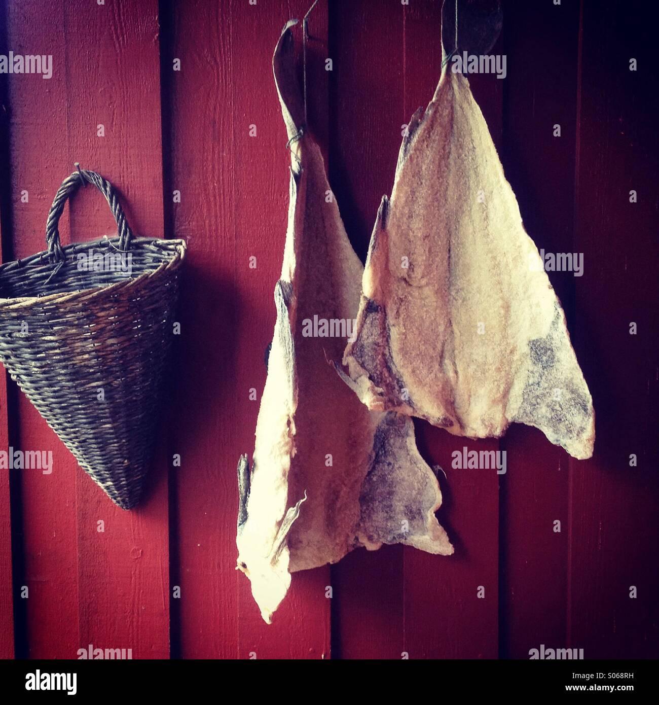 Il merluzzo salato al di fuori di essiccazione foto for Disegni per la casa del merluzzo cape