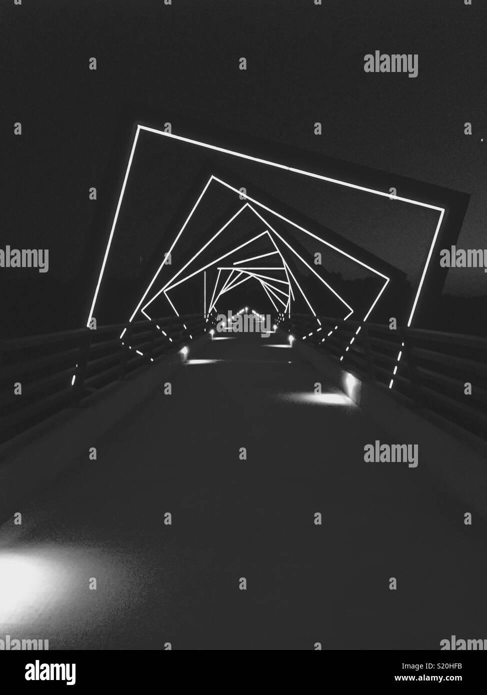 Portale del bridge Immagini Stock