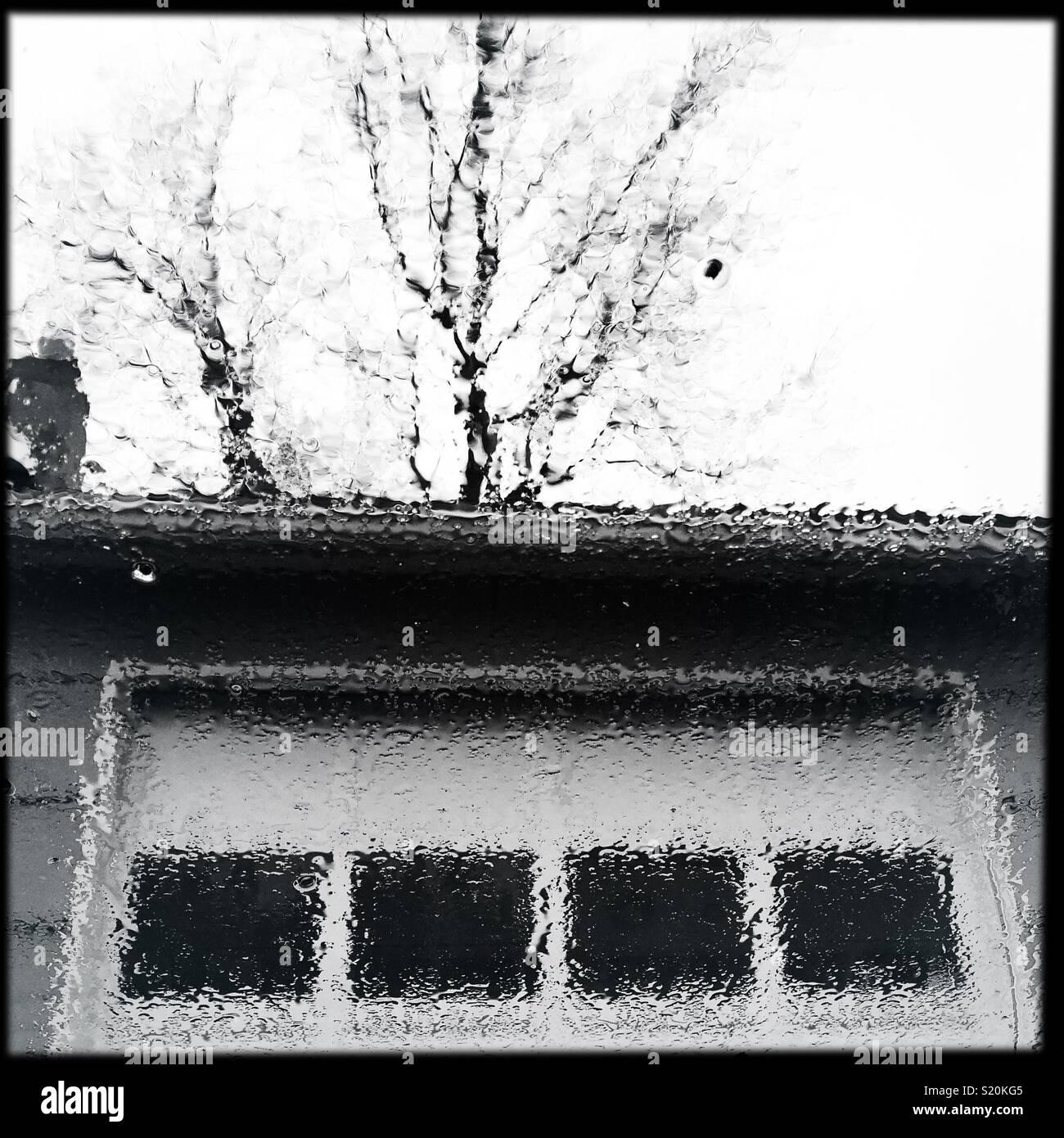 Primavera piovosa mattinata Immagini Stock