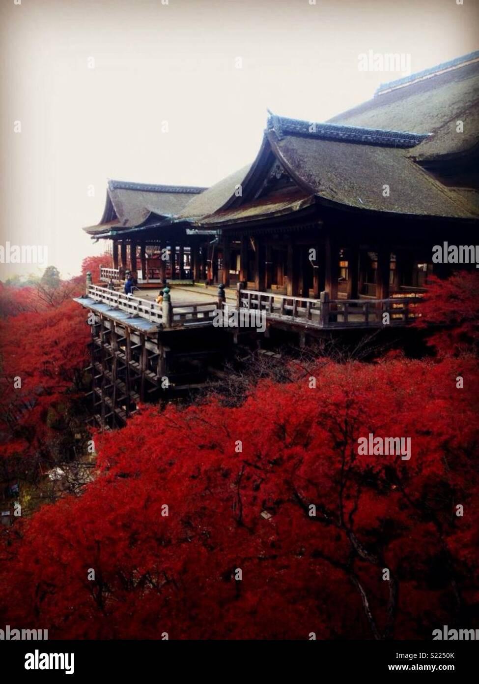 Tempio di Kiyomizu, Kyoto, Giappone Immagini Stock