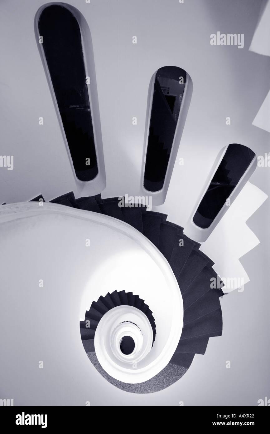 Escada em espiral em Ravello Costa Amalfitana Campânia Itália Europa Imagens de Stock