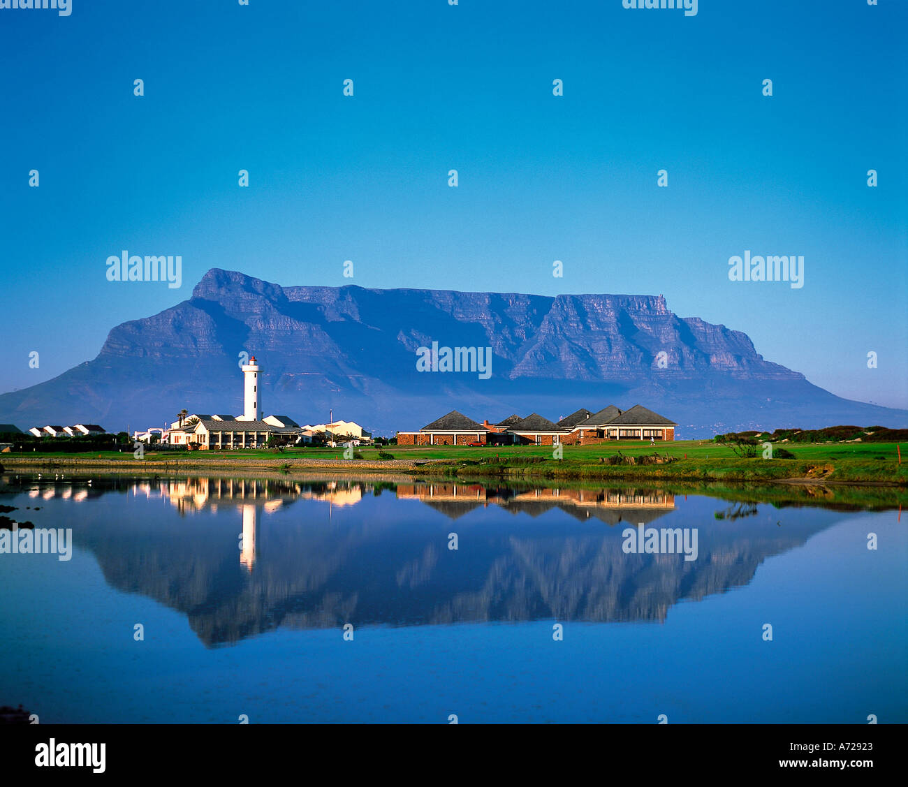 Table Mountain Cape Town província de Western Cape África do Sul Imagens de Stock