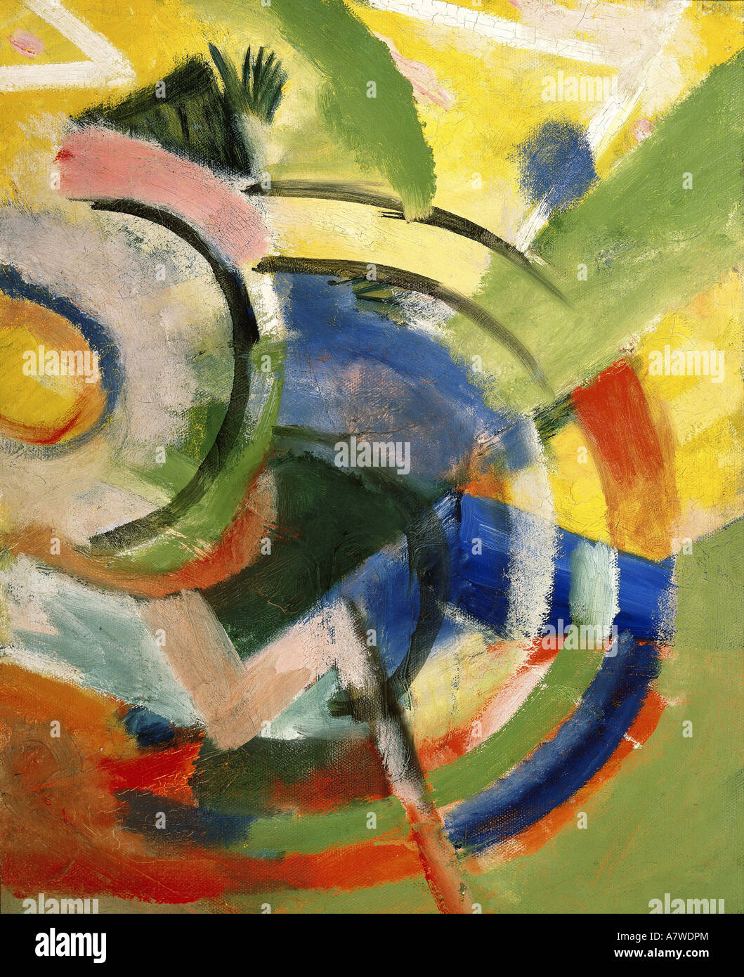 """Fine Arts, Marc Franz (1880 - 1916), 'Kleine Komposition IV"", pintura, 1914, Franz Marc Museu, Kochel Imagens de Stock"