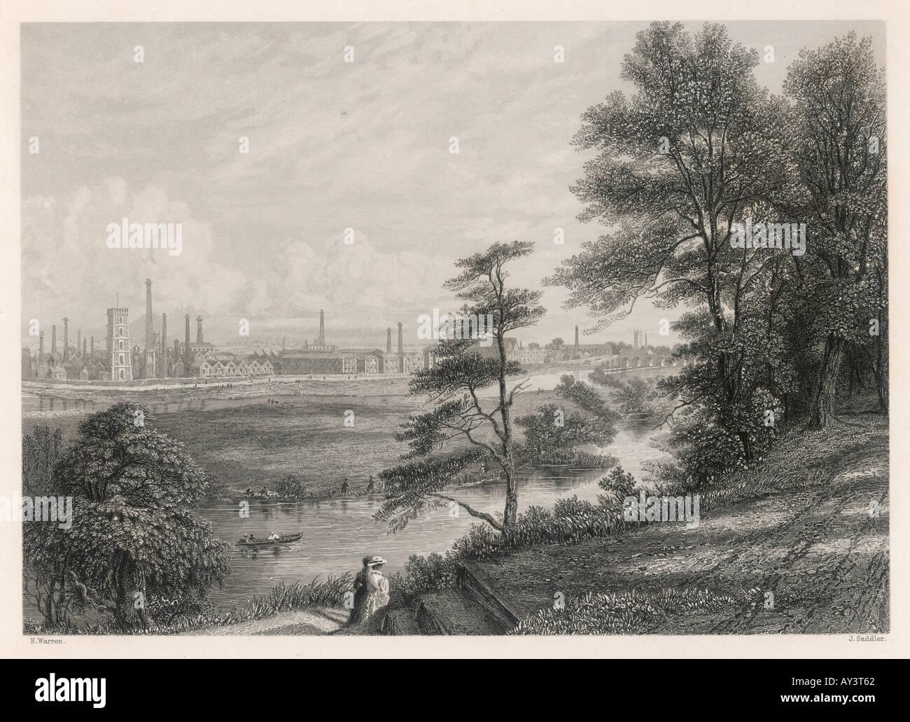 Burton On Trent da indústria Imagens de Stock