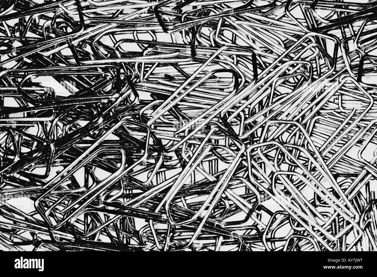Grande grupo de clipes de papel Imagens de Stock