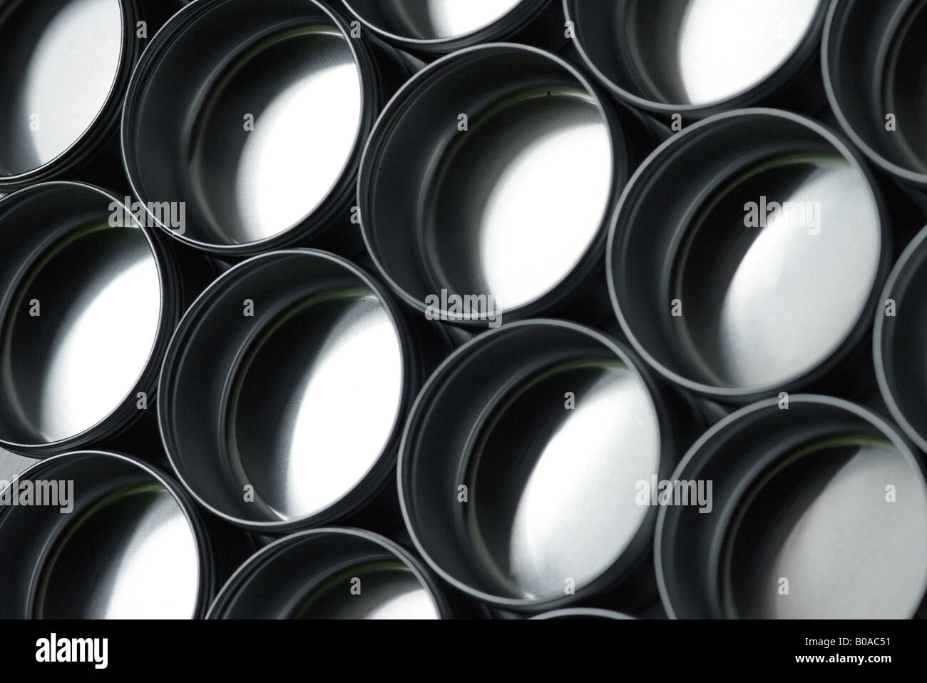 Recipientes metálicos, close-up Imagens de Stock