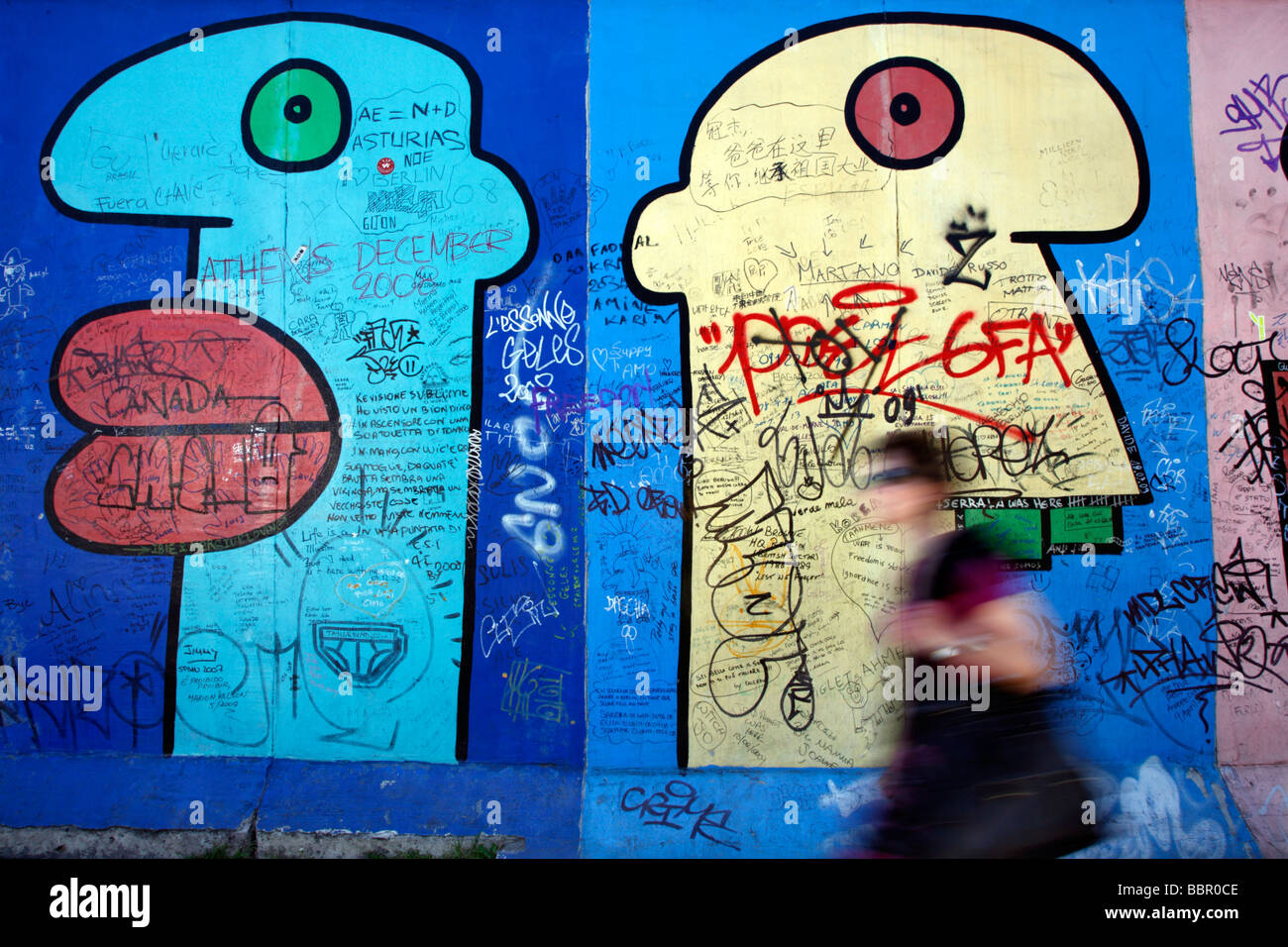 Muro de Berlim na Alemanha Imagens de Stock