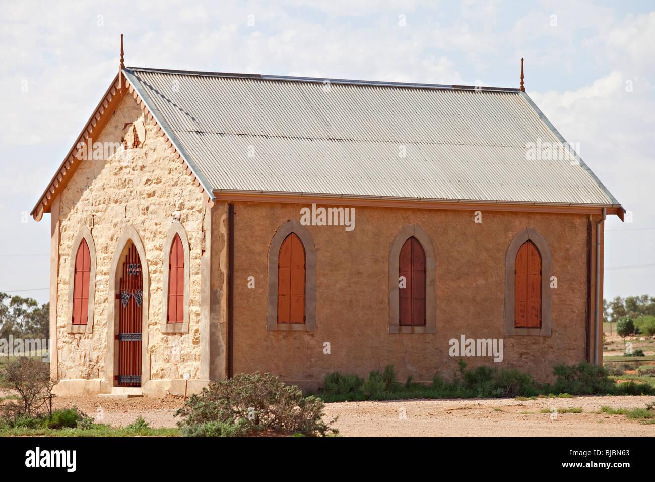 Igreja metodista, Silverton perto de Broken Hill, Outback Austrália NSW Imagens de Stock