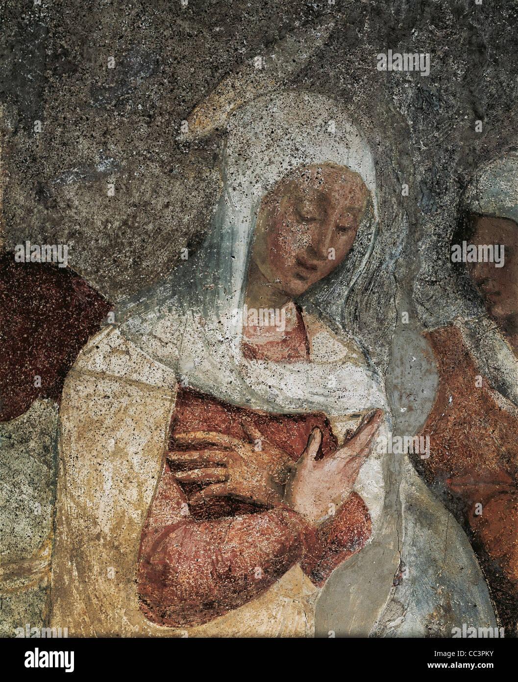 Ligúria Chiavari Santuário de Nossa Senhora da Graça Teramo Piaggio afresco vida de Cristo Imagens de Stock