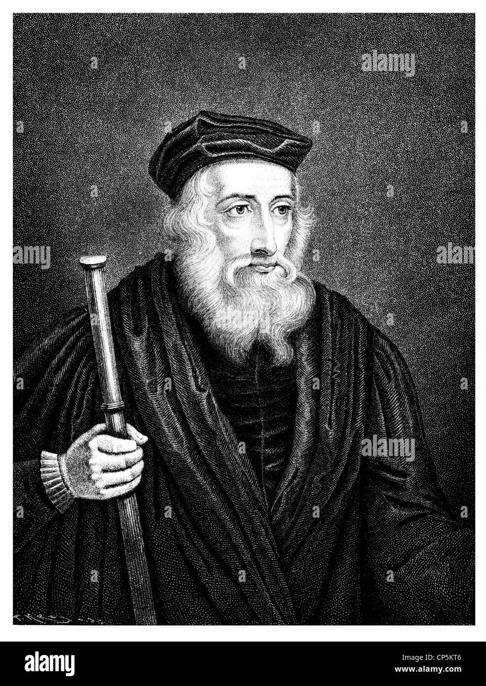 João Wycliffe, Médico evangelicus, 1330 - 1384, um filósofo inglês, teólogo  e reformador da Igreja