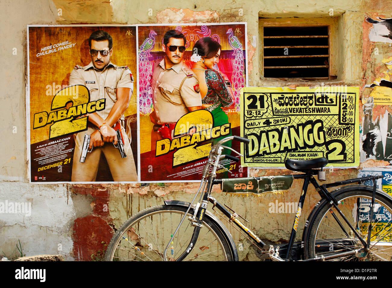 Filme de bollywood cartaz Imagens de Stock
