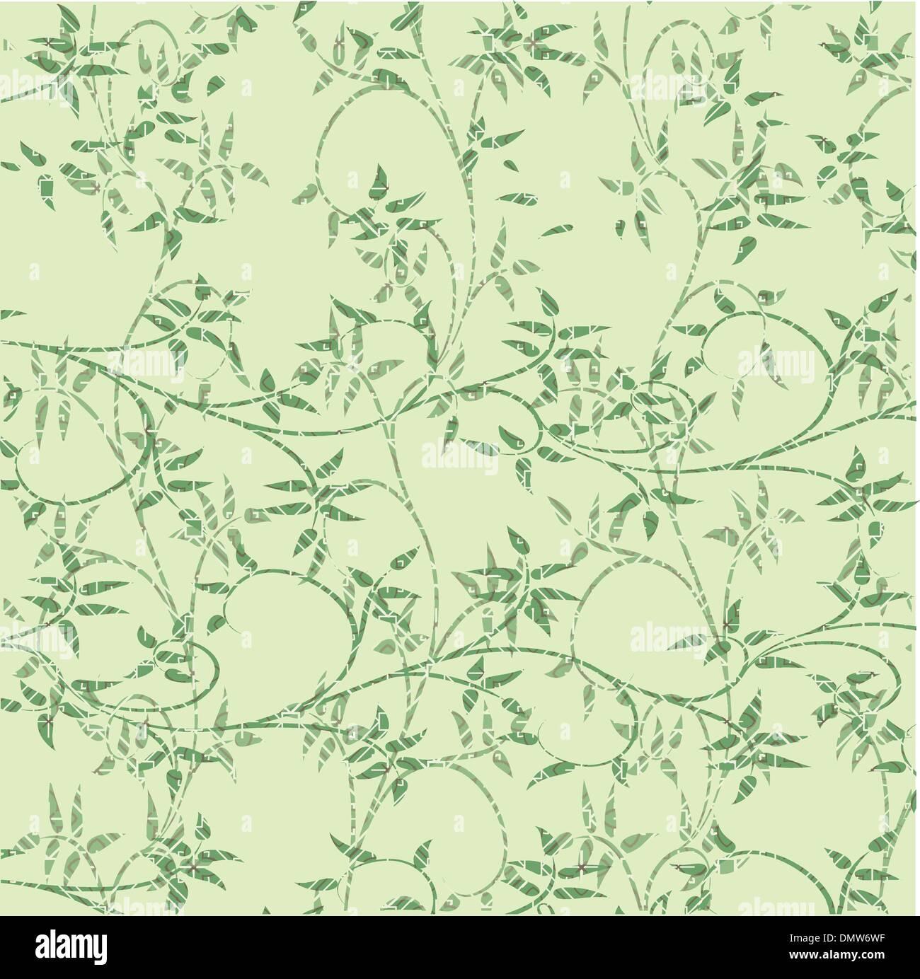 Folhas verdes de fundo decorativa Imagens de Stock