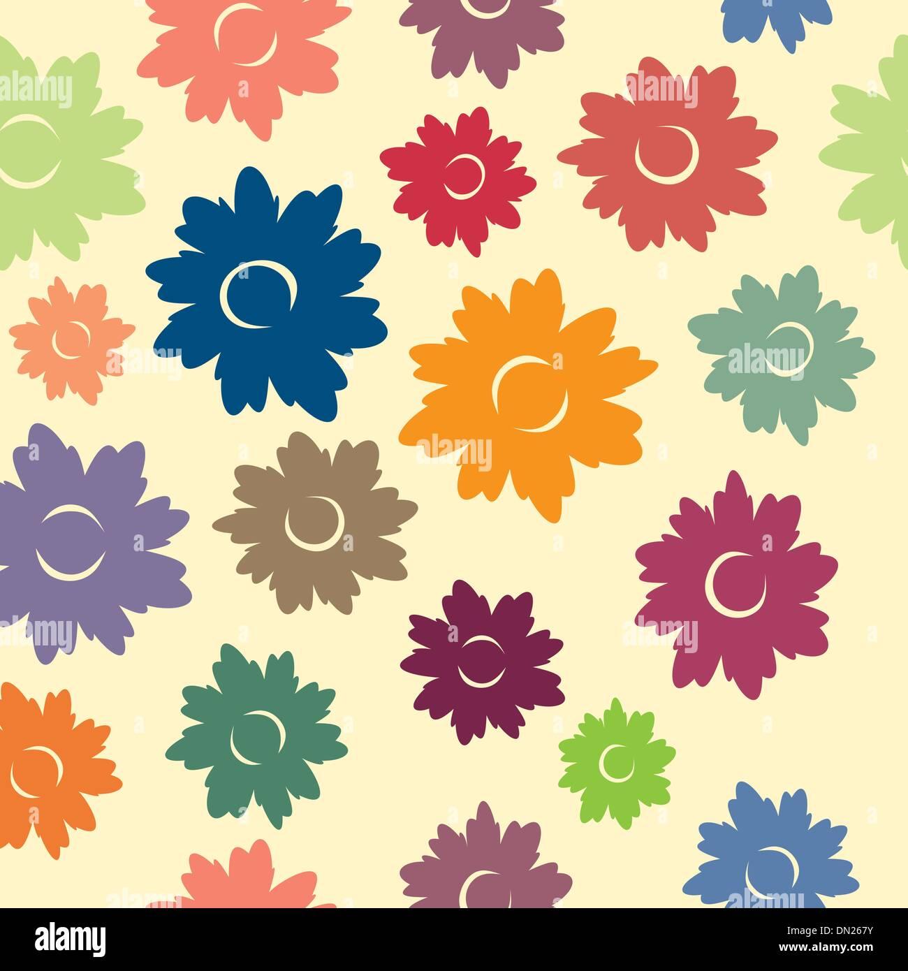 Padrão Sem Costura Floral Imagens de Stock