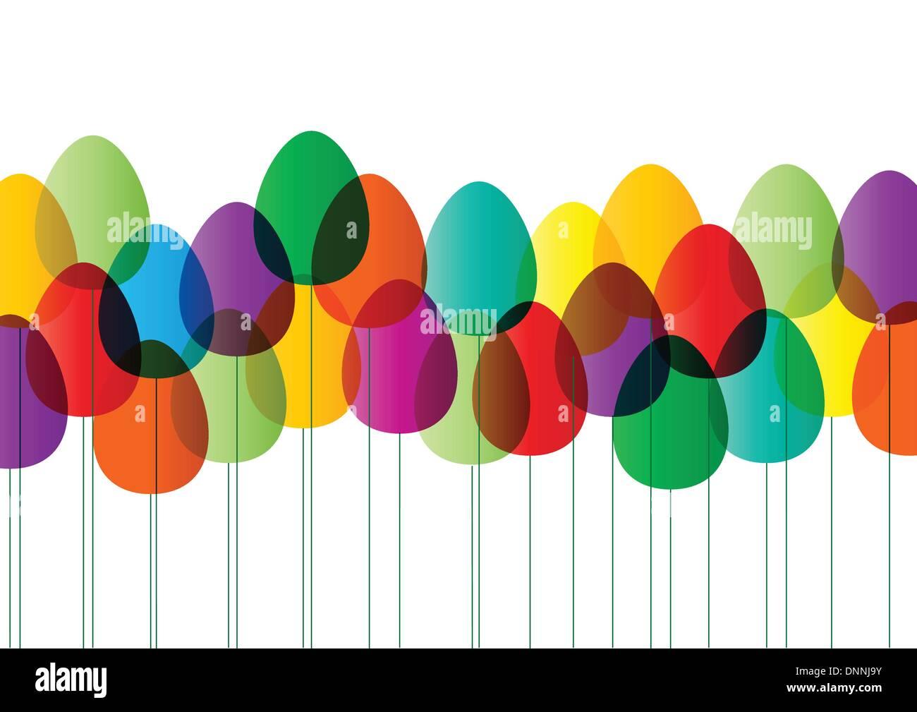 Cartão de feliz Páscoa Imagens de Stock