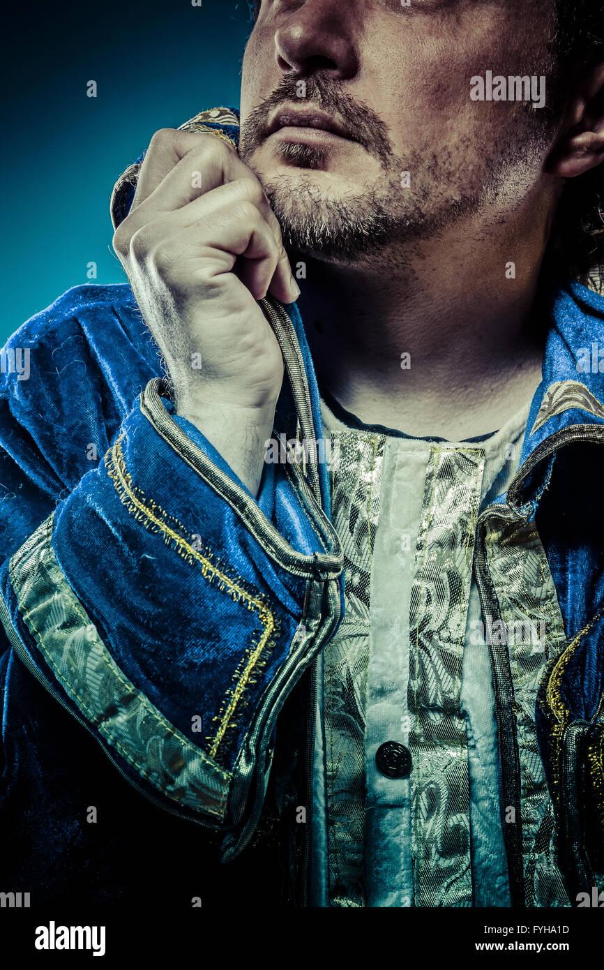 Blue Prince, glória conceito, funny fantasy foto Imagens de Stock