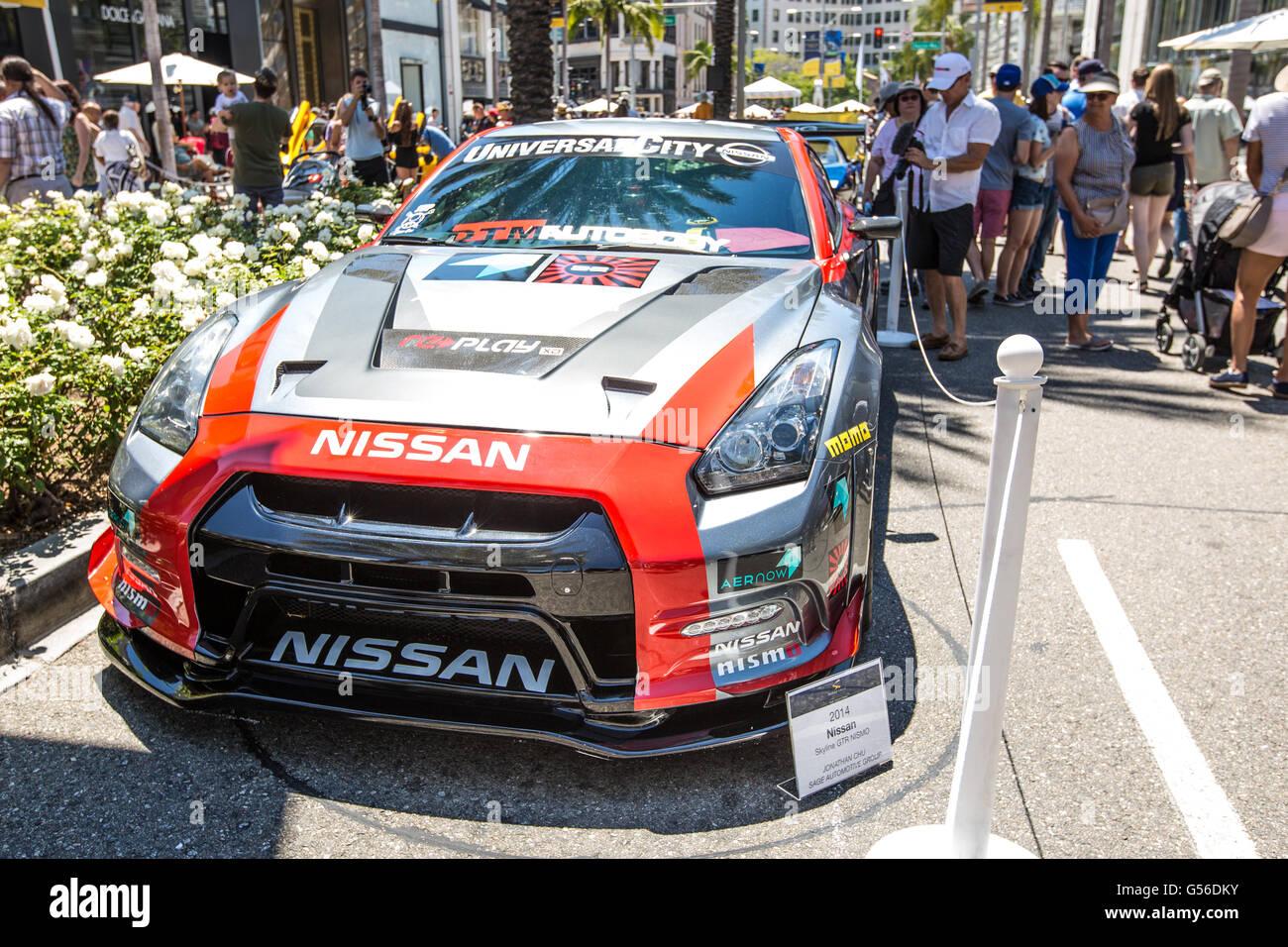 Um 2014 Nissan Skyline Gtr Nismo Em Exibição No Rodeo Drive Concours  Du0027elegância Car Show Em Beverly Hills, Califórnia, EUA. O Carro Show é ...