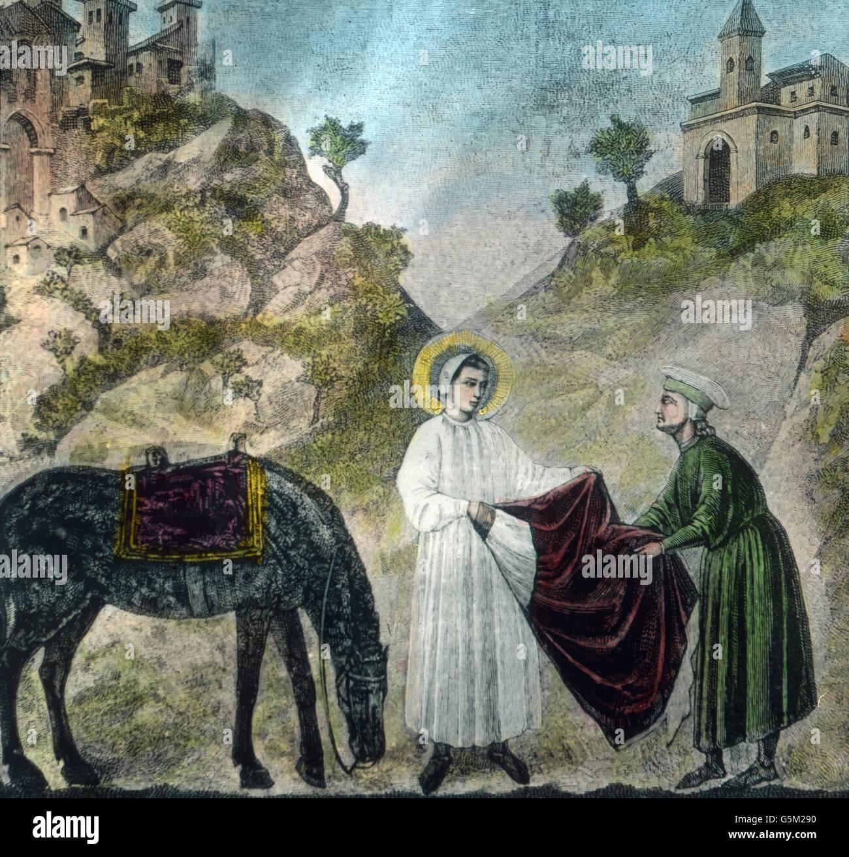 Cena Aus Dem Leben Des Heiligen Franz Von Assisi 13 Jahrhundert