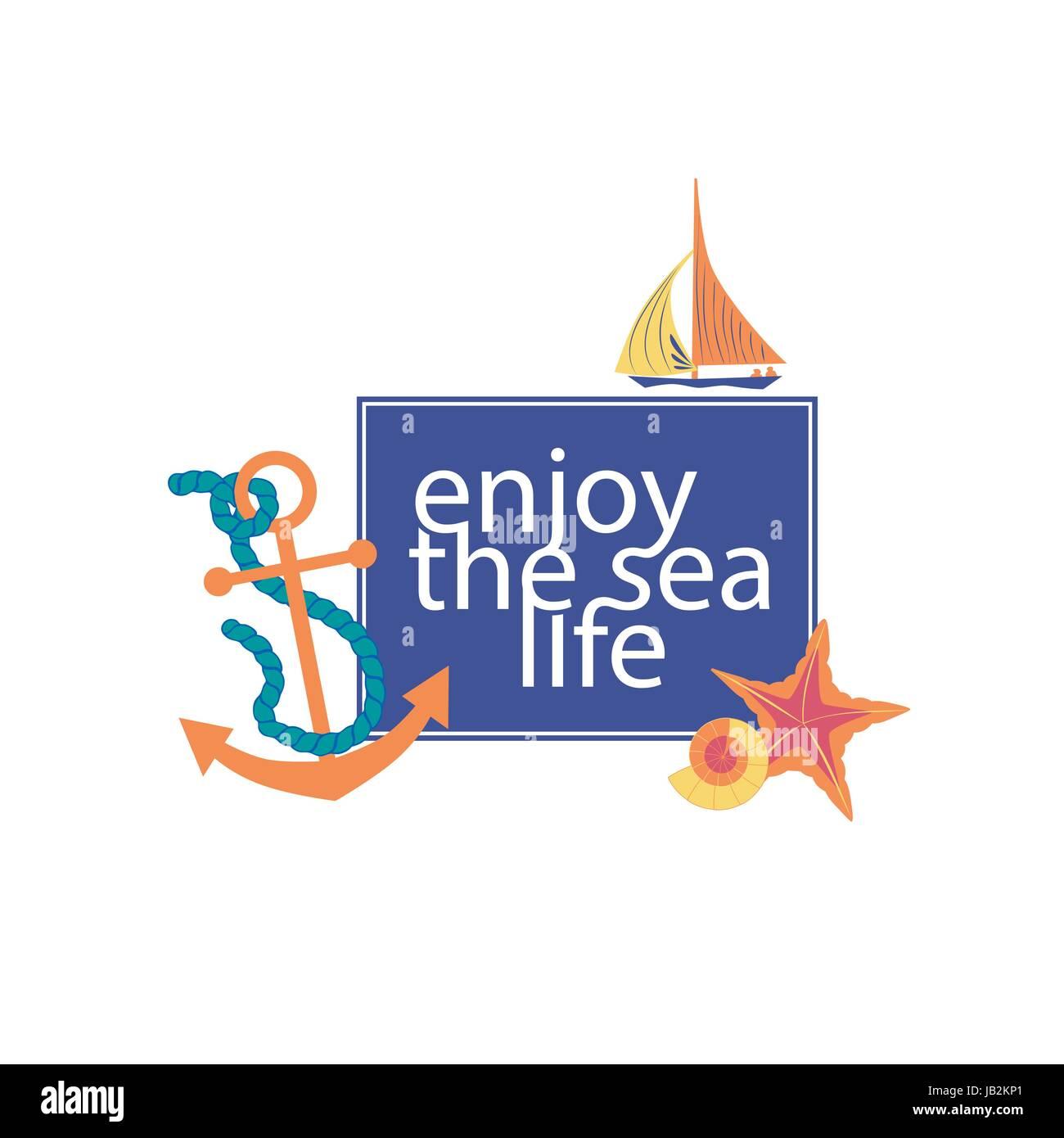 milhas náuticas cartaz conceito conjunto de símbolos à beira mar de
