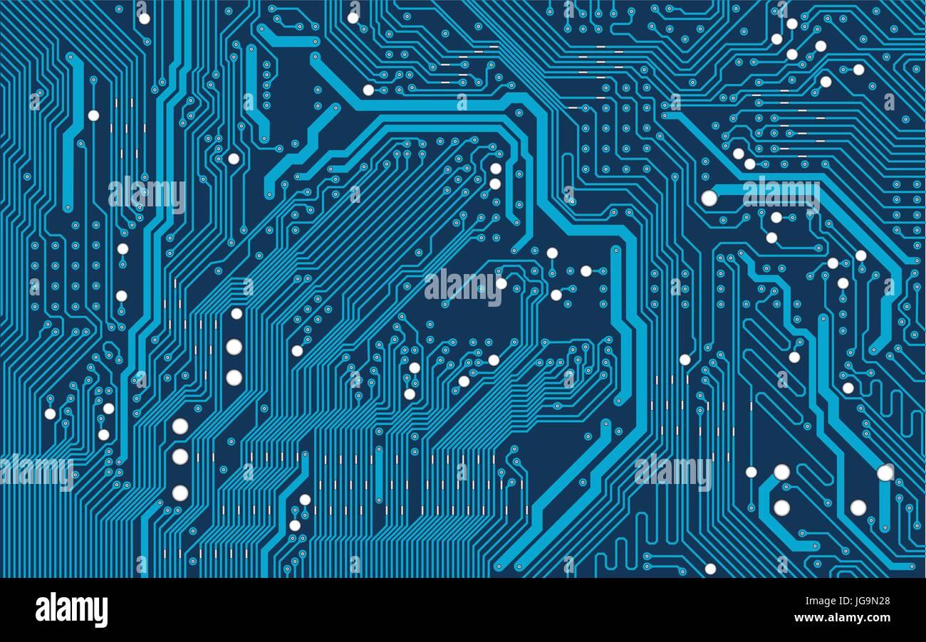 Circuito Eletronico : Vetor de fundo azul placa de circuito eletrônico ilustração do