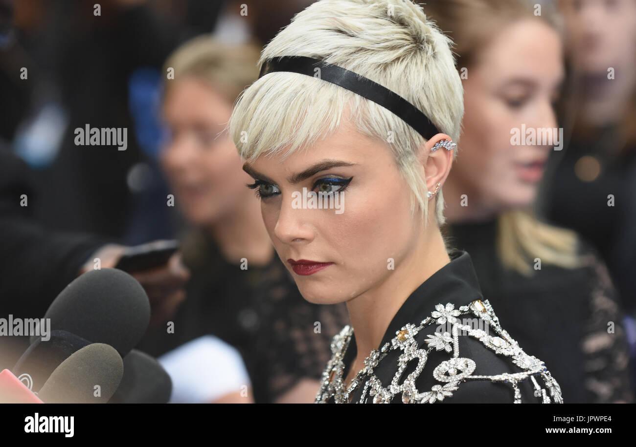 "Cara Delevingne,'Valerian"" - União Premiere,Cineworld,Leicester Square,London.UK 24.07.17 Imagens de Stock"