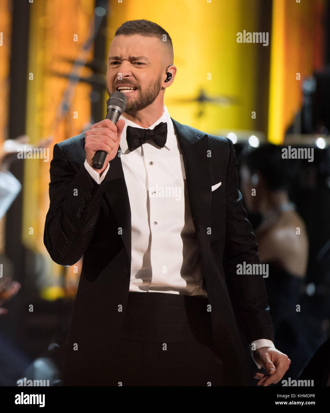 Hollywood, CA - 26 de fevereiro: justin timberlake participa do 89º Annual Academy Awards no Hollywood & Highland Foto de Stock