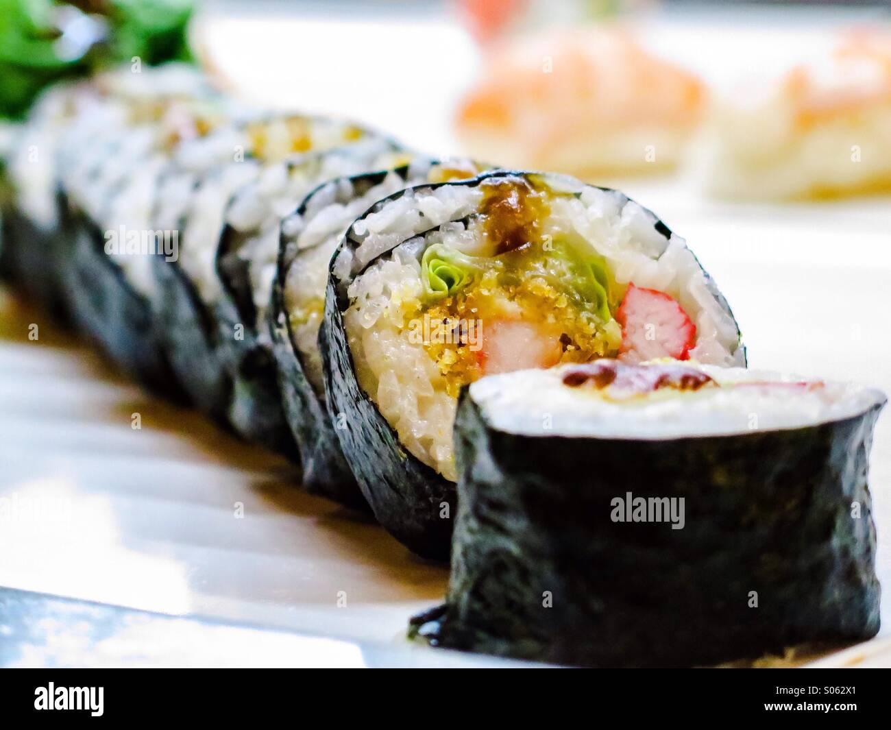 Rolo de sushi Califórnia Imagens de Stock