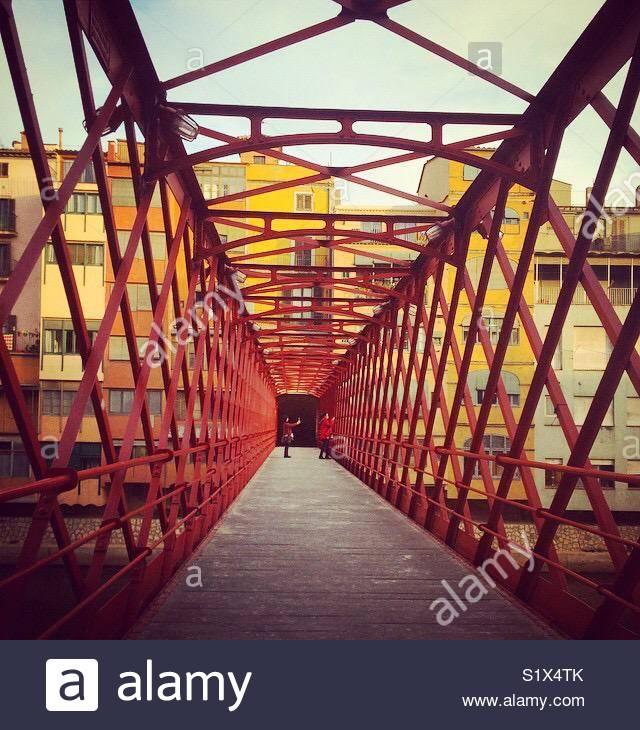 Ponte em Girona, Catalunha Imagens de Stock