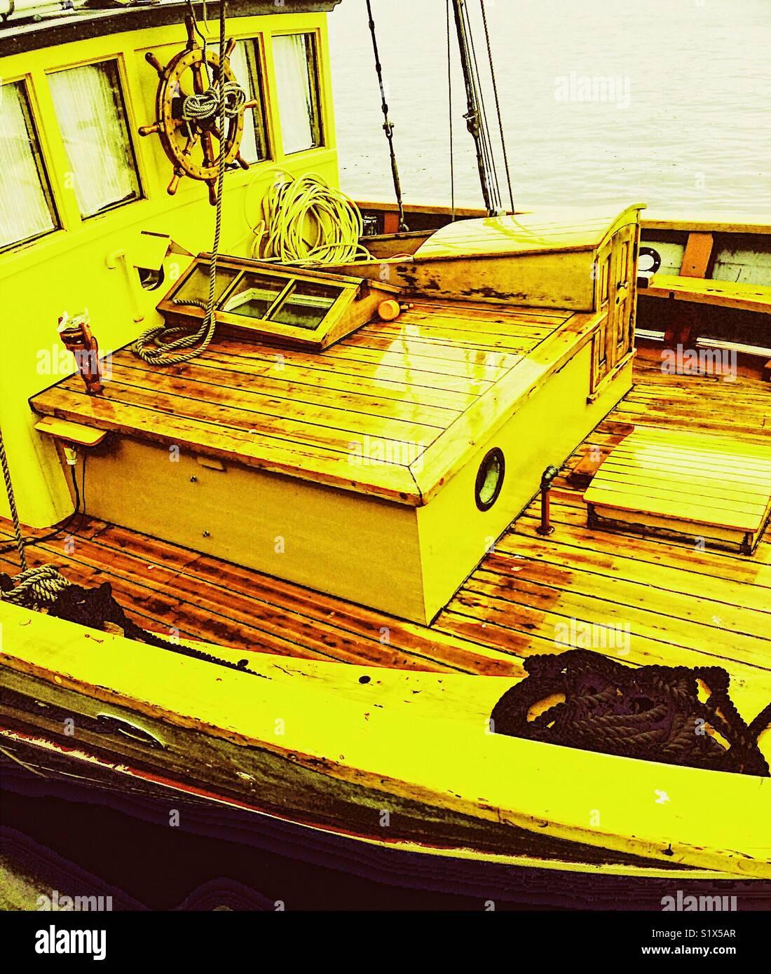 Navios de madeira deck Imagens de Stock