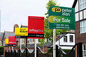 various-estate-agents-signs-for-sale-out
