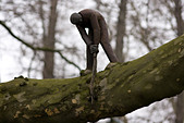 a-man-sculpture-on-a-tree-cuts-the-branc