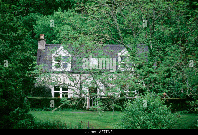 House with nature garden - Stock Image