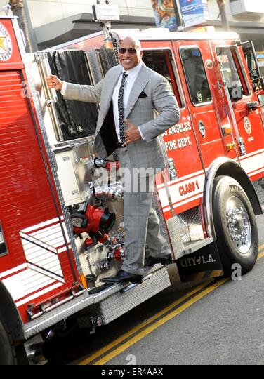 Los Angeles, California, USA. 26th May, 2015. Dwayne Johnson San Andreas Film Premiere 26/05/15 Hollywood/picture - Stock Image