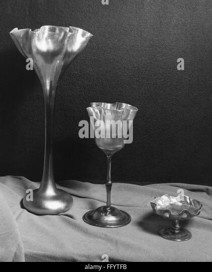 TIFFANY GLASS. /nGlasses by Louis Comfort Tiffany. Photograph, c1955. - Stock Image
