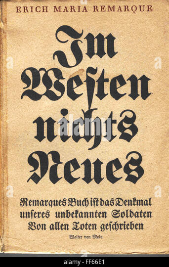 an analysis of the anti war concept in the novel all quiet on the western front by erich maria remar