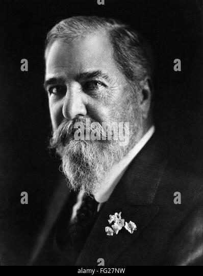 LOUIS COMFORT TIFFANY /n(1848-1933). American painter and stained-glass artist. Photograph, c1910. - Stock Image