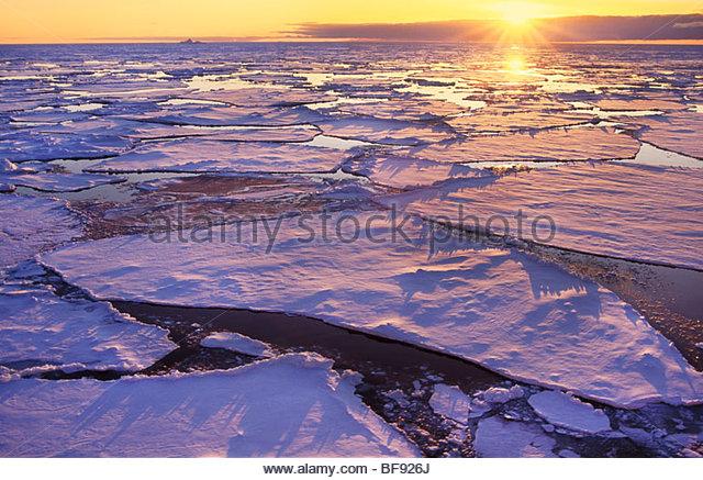 Melting sea ice, Antarctica - Stock Image