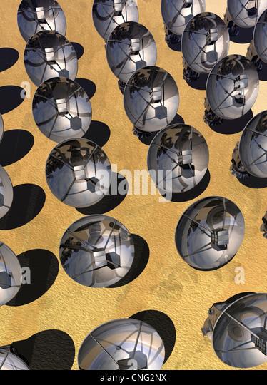 Satellite array  artwork - Stock Image