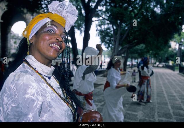 Native dancer, Havana, Cuba - Stock Image