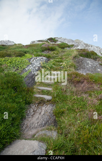The old Mass Path near Derrynane Harbour, Caherdaniel, County Kerry, Ireland. - Stock Image