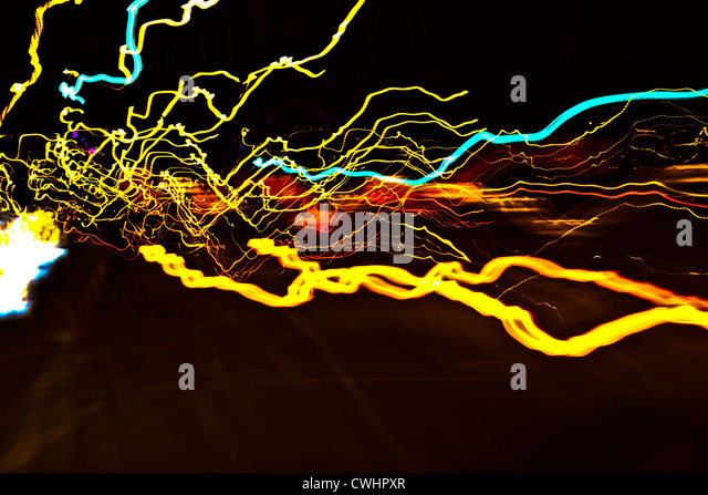 lamps,abstract,track lighting - Stock Image