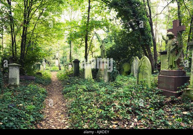 Abney Park Cemetery in Stoke Newington London England - Stock Image