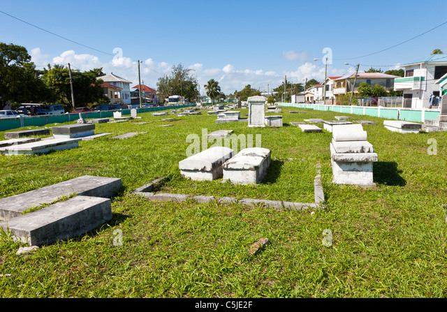 Yarborough Cemetery in Belize City, Belize - Stock Image
