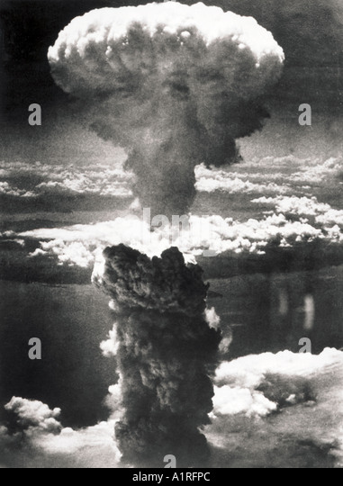 the ravages after the dropping of the atomic bomb