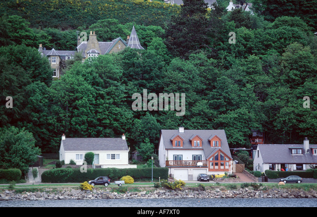 House at the coast - Stock Image