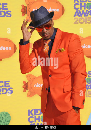 LOS ANGELES, CA - MARCH 28, 2015: Nick Cannon at the 2015 Kids Choice Awards at The Forum, Los Angeles.  EDITORIAL - Stock Image
