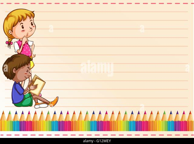 Children border vector