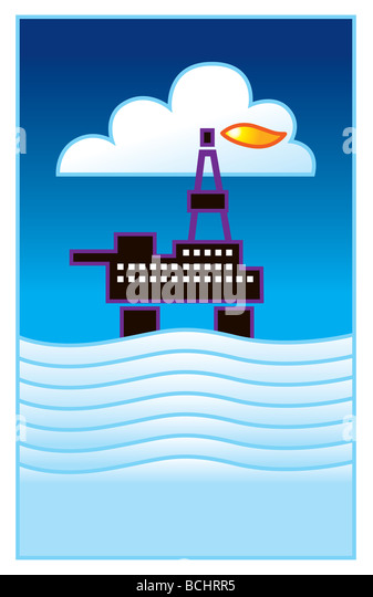 Oil rig - Stock Image